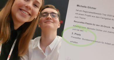 BurgTeam gewinnt 3. Platz beim Regionalwettbewerb Jugend Forscht